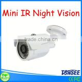 Small mini IR night vision networking ip cameras Waterproof IR CCTV camera(can be used in Car, Small shop)