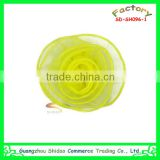 Handmade artificial yellow organza rose flower clothing accessories corsage