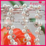 wholesale silver plated metal parts rhinestone crystal stone plastic beads chain roll WRC-205
