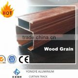 custom made high quality wooden grain curtain tracks adjustable