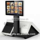 All in one touch POS system with 80mm auto cut printer/Android/Windows 64 G SSD for standard