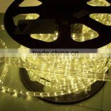 christmas lights 3 wires flat round 100m decoration blue dimmer led rope light wholesale for