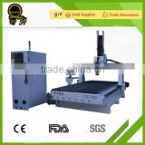Jinan Factory supply heavy structure servo motor HSD6KW spindle ATC woodworking cnc router for sale