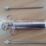 stainless steal Marinade flavour injector syringe sauce kitchen gadget needle for meat fruit