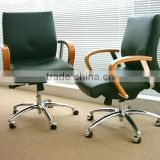 executive ripple black leather office chair