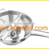 High grade stainless steel hand operated vegetable/ food/ potato chopper with mirror polish outside