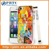 Set Screen Protector And Case For Iphone 5 , Beautiful Aluminium Flower Case