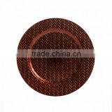 Designer copper charger plate, supplier of copper charger plate, bulk charger plate