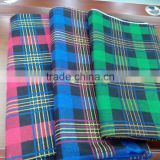 polyester/ cotton flannel fabric two side brushed for shirt