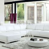 U shaped white leather sofa set design, corner furniture, salon leather