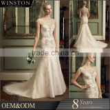 Alibaba New Design seqiin crystal wedding dress mermaid