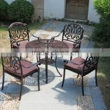 2016 Modern Cast aluminum Bistro Set Outdoor Patio Furniture Hot Sale