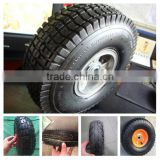 China factory of 3.50-4 small pneumatic rubber wheel for babay carts