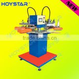 Professional two color rapid high precision carousel screen printing machine for t-shirt neck label