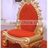 Christmas Santa throne/Gold King Chair/Decorative Fibreglass Grand King Chair