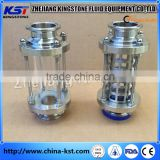 Stainless Steel Sanitary Tri Clamp tube sight glass with square net