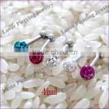 With Epoxy Covering Ball Stainless Steel Ear Piercing Tragus Ear Cartilage Studs [ET-201]