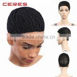 wholesale cheap price high quality braid cap for crochet braid and weaves, elastic net braid cap with synthetic braids