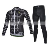 2013 Sublimation black spider-man china cycling jersey customized KCY30