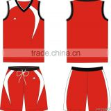 China Newest Design Red Basketball Jersey Wholesale with High Quality