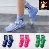 New Winter or autumn cotton socks pretty young girls pattern socks young girls tube socks