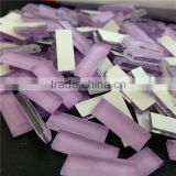 new style fancy honey violet color rectangle shape glass cut decorative stone for fashion shoes