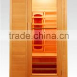 one person hemlock ceramic heater mp3 music relax far infrared wooden adult sauna massage rooms