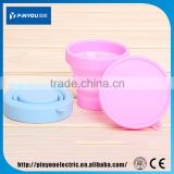 Factory Direct Sales All Kinds Ofsilicone cup for traveling , collapsible travel mug , silicone coffee cup lids