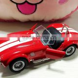 Die cast car 1 32 scale alloy model car Shelby Cobra with light sounds wholesale diecast cars custom logo