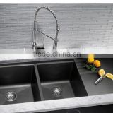 Solid surface quartz composite material Double Bowl kitchen sinks,resin stone kitchen sinks