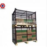 heavy duty steel pallet collars used with wooden pallet or steel pallet