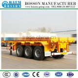 container truck trailer 3 Axles Skeletal Type 40 Feet Container Trailer For Sale/40ft container transport chassis