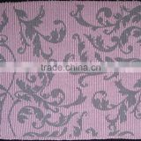 jacquard stripe placemat rib placemat 33%cotton 67%polyester purple beaded christmas mat