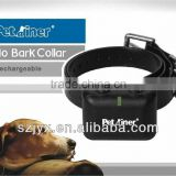 JY850 anti bark remote control electronic rechargeable waterproof vibrating shock dog training collar with led indicator