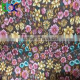 popular shoes material small flower print fabric with eva