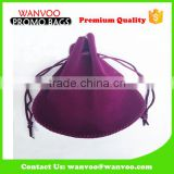 Big Storage Velvet Drawstring Makeup Pouch Cosmetic Bag Accept Customized