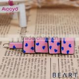 Brand hair accessories ribbon bow hair clip baby plastic hair clip