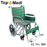 Rehabilitation Therapy Supplies Topmedi TSW870ABJ Foldable orthopedic Steel wheelchair