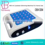 Hot sale lipo laser weight lose body slimming machine for beauty spa with CE approved for homeuse
