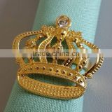 bulk gold crown napkin ring,napkin holder