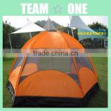 6-8 Persons Double-layer Hexagonal Caulking Tent with packing bag