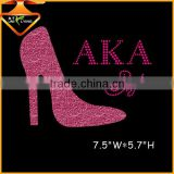 Fashion high heeled design rhinestone hotfix transfer wholesale in china