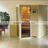Wooden sauna dry steam room