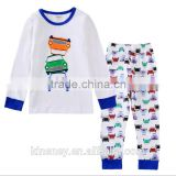 KS10342B 4-7 years kids colorful print pajama set pure cotton children sleepwear wholesale