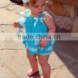 2014 Wholesale Sweet Lovely Light Blue Baby Swing Top w Bloomer/Diaper Cover w White Ruffle SW456