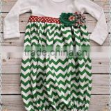 2014Hot Sale Cheap Chevron Girl's Gown Dress For Christmas Kids Beautiful Cotton Long Sleeve Dress for Girl Of 7 Years Old