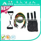 Hot sales!!! 11pcs Resistance Band Training Set,exercise tube,Leg Resistance Tube