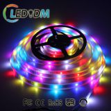 Factory price 5m/roll addressable 5v ws2812b 5050 flexible rgb led strip