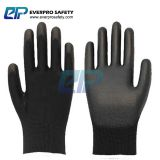 13 Gauge Polyester Liner PU Coated Work Gloves Safety Gloves for Gardening with 4131X