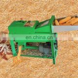 home using small electric rice and wheat thresher